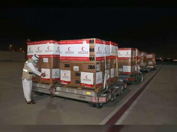 طائرة مساعدات طبية ثالثة من الهلال الأحمر تصل إلى دمشق للمساهمة في الحد من كوفيد-19 في سوريا