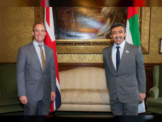 Abdullah bin Zayed meets British Foreign Secretary