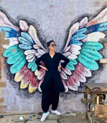 """Mehwish Hayat stuns fans by sharing her picture with """"wings"""""""