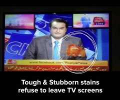 Stains on TV Screen