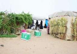 مركز الملك سلمان للإغاثة يوزع أكثر من 169 طنًا من السلال الغذائية الطارئة للنازحين في الجوف و مأرب
