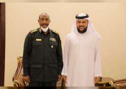Chairman of Sudan's Sovereign Council receives IHCO Ajman delegation