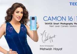 TECNO's Ambassador Mehwish Hayat Brings The New Photography Phone CAMON 16