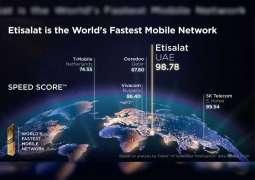 Etisalat UAE recognised fastest mobile network operator globally by Ookla Speedtest