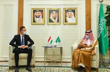 سمو وزير الخارجية يستقبل وزير خارجية هنغاريا