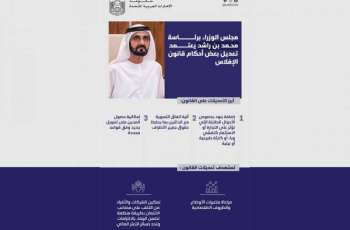 UAE Cabinet approves amendments to provisions of bankruptcy law