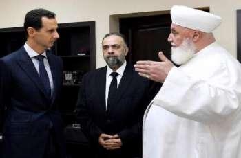 مقتل مفتي بشار الأسد اثر انفجار سیارة مفخخة فی دمشق بسوریا