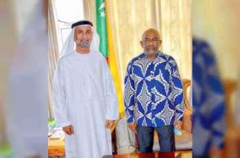 رئيس جزر القمر يستقبل الجروان ويشيد بجهود الإمارات الإنسانية والتنموية