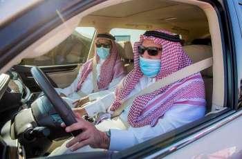 سمو أمير منطقة القصيم يتفقد مشروع طريق القصيم - مكة المكرمة المباشر