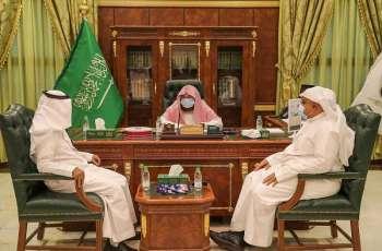 الرئيس العام لشؤون الحرمين يتفقد مشروع الملك عبدالله لسقيا زمزم