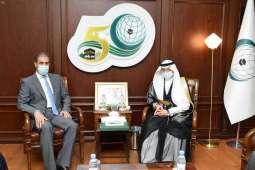 أمين منظمة التعاون الإسلامي يستقبل مندوب العراق لدى المنظمة