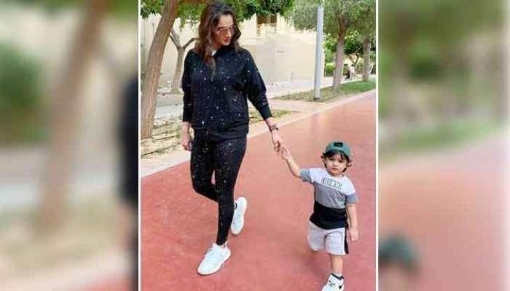 Sania Mirza shares afternoon walk with son Izhaan Malik