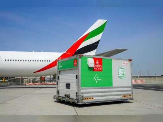 """""""الإمارات للشحن الجوي"""" تواصل نقل الأغذية والمنتجات سريعة العطب خلال تفشي """"كوفيد - 19"""""""
