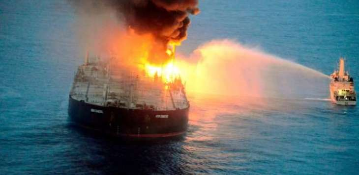 Search for Crew Enters 2nd Day After Russian Tanker Explodes in Sea of Azov - Authorities