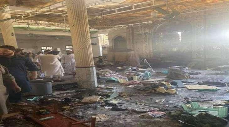 استشھاد 7 طلبة و اصابة 70 آخرین اثر انفجار داخل المدرسة الدینیة في مدینة بشاور