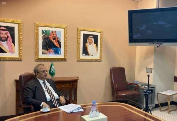 السفير المعلمي يرأس الاجتماع الحادي والعشرون للمجلس الاستشاري لمركز الأمم المتحدة لمكافحة الإرهاب