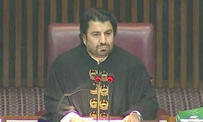 NA Deputy Speaker gets angry over PPP leader, bans his entry for current session