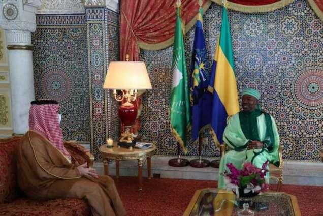 رئيس جمهورية الغابون يستقبل سمو وزير الخارجية