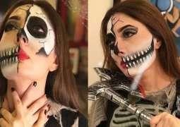 Sharmila Farooqi appears as extra creative on Halloween Day