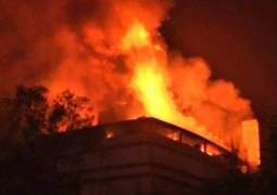 Fire Outbreak Kills 9 People at a Warehouse in India's Ahmedabad - Rescuers