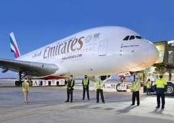 طيران الإمارات تستأنف تشغيل إيرباص A380 إلى الأردن