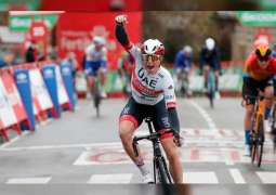 Belgian Philipsen gives UAE Team Emirates its first success in this year's Vuelta