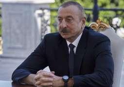 Aliyev Says Azerbaijani Forces Take Control of 16 Villages in Regions Surrounding Karabakh
