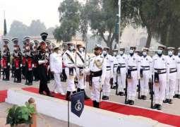 Pakistan Navy Assumes Guard Duties At Mausoleum Of Allama Muhammad Iqbal
