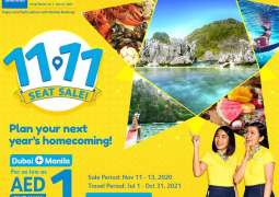 Cebu Pacific offers Dubai-Manila flights for as low as AED1 as part of its 11.11 Crazy Sale