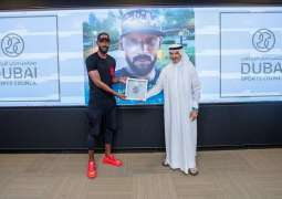 Dubai Sports Council honours football stars Puyol and Anelka with 'Medal of First Line of Defence'