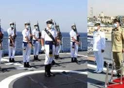 Pakistan Navy Ship Zulfiquar Visits The Port Of Aqaba, Jordan