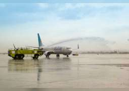 flydubai's first scheduled commercial flight from Dubai to Tel Aviv receives a warm welcome