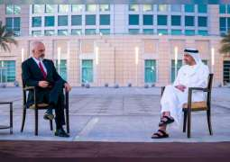 Abdullah bin Zayed, prime minister of Albania sign economic cooperation agreement
