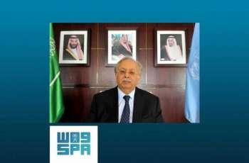 السفير المعلمي يبعث برسائل للأمم المتحدة ولمجلس الأمن حول الاعتداء الإرهابي الذي استهدف إحدى محطات توزيع المشتقات النفطية في المملكة