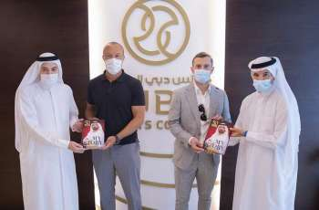 Dubai Sports Council present football stars Silvestre and Wilshere with copy of Mohammed bin Rashid's 'My Story'