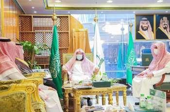 السديس يستقبل سمو رئيس لجنة الدعوة في أفريقيا
