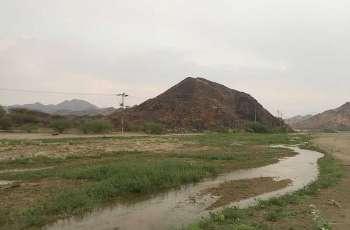 أمطار غزيرة على محافظة الليث