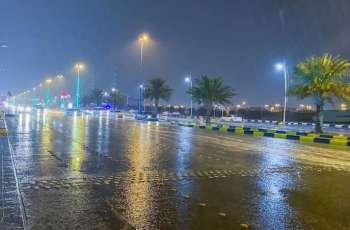 أمطار على محافظة حفر الباطن