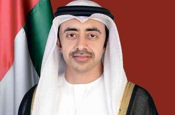 عبدالله بن زايد : شهداء الإمارات رسموا بتضحياتهم مجدَ وطنهم وعزته
