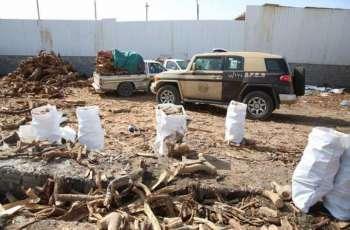 القوات الخاصة للأمن البيئي تضبط 93 طناً من الحطب المحلي المعد للبيع في مدينة الرياض