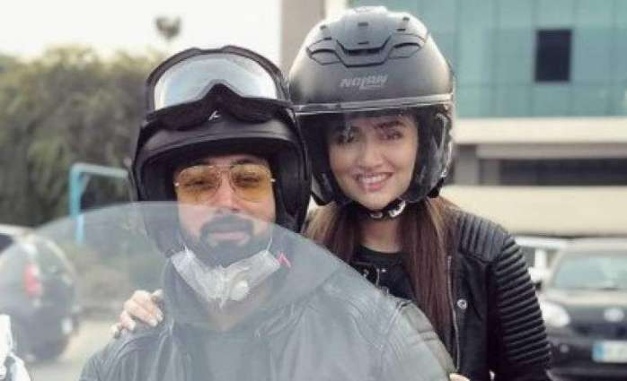 Sana Javed enjoys bike ride with husband Umair Jaswal