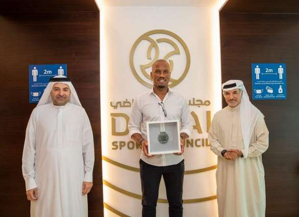 Dubai Sports Council presents Chelsea legend Drogba with 'Medal of First Line of Defence'