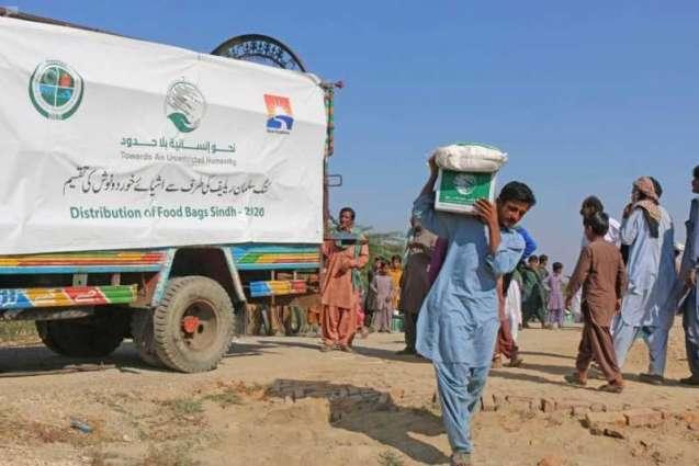 مركز الملك سلمان للإغاثة يوزع 107 أطنان من السلال الغذائية للمتضررين من السيول في باكستان