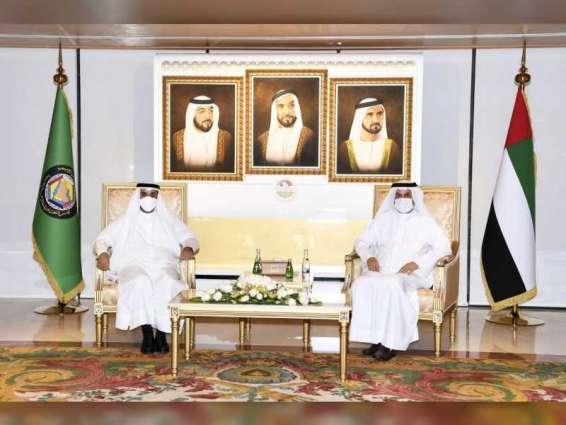 Saqr Ghobash receives GCC Secretary-General
