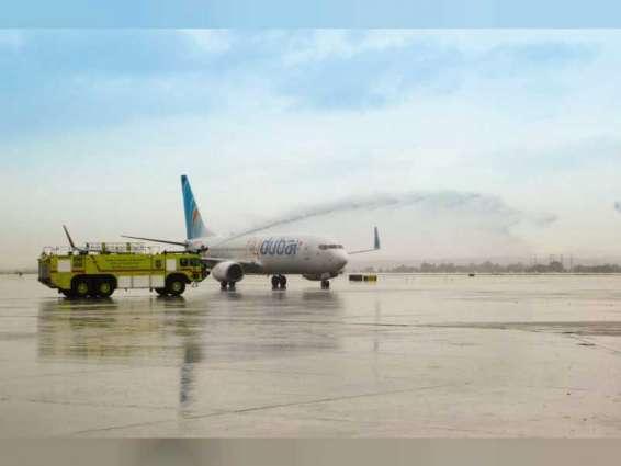 أول رحلة تجارية لفلاي دبي تهبط في تل أبيب