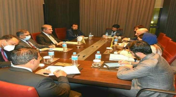 وزیر خارجیة باکستان شاہ محمود قریشي یلتقی نظیرہ الأفغاني علی ھامش اجتماع مجلس وزراء خارجیة الدول الأعضاء بمنظمة التعاون الاسلامي