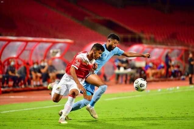 الوحدة يكسب الباطن بثلاثة أهداف في دوري كأس الأمير محمد بن سلمان