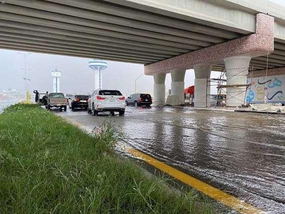 هطول أمطار على محافظة الليث