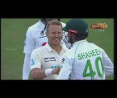 neil wagner deadly bouncer to Shaheen Afridi