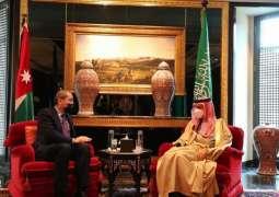 سمو الأمير فيصل بن فرحان يلتقي وزير الخارجية وشؤون المغتربين الأردني